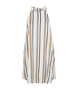 Blue Stripe High Neck Slip Dress | New Look
