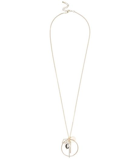 Gold Cut Out Disc Pendant Necklace | New Look