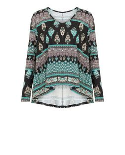 Apricot Blue Paisley Print Oversized Top | New Look