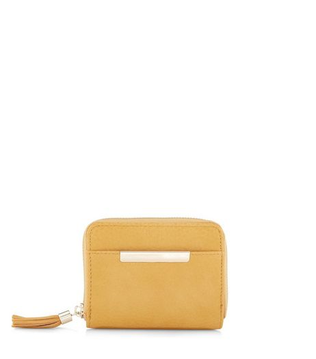 Yellow Metal Tassel Trim Purse | New Look