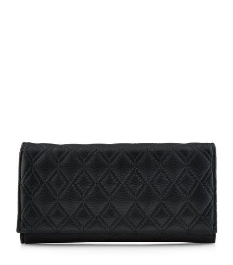 Black Quilted Purse | New Look