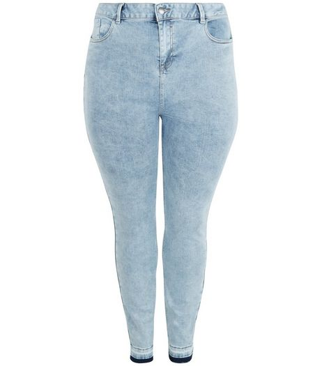 Pale Blue Acid Wash Skinny Jeans | New Look