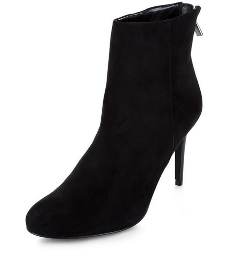 Black High Ankle Boots | New Look