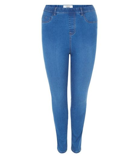 Curves Washed Blue Jeggings  | New Look