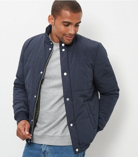 Navy Quilted Jacket | New Look