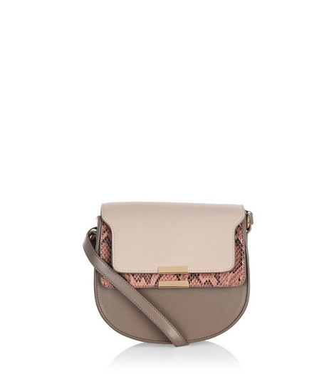 Mink Colour Block Shoulder Bag | New Look