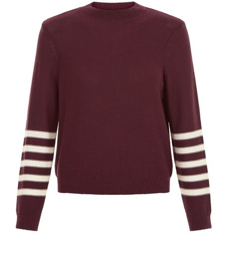Teens Burgundy Marl Turtle Neck Sweater | New Look