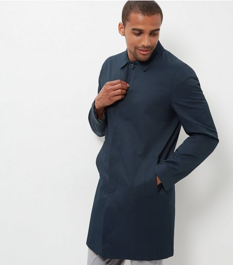 Navy Single Breasted Trench Coat  | New Look