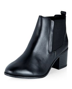 Wide Fit Black Leather Chelsea Boots | New Look