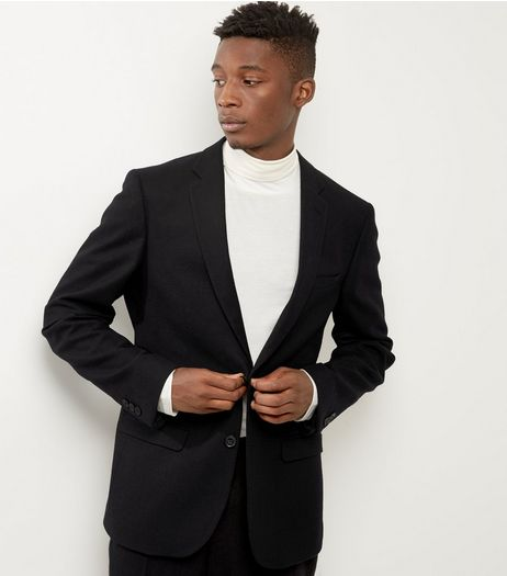 Navy Slim Fit Blazer | New Look