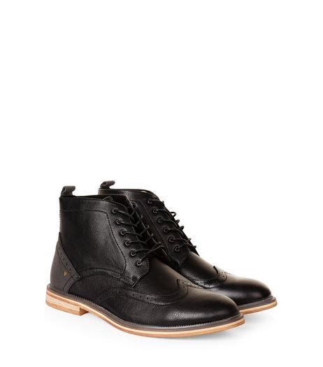 Black Brogue Ankle Boots | New Look