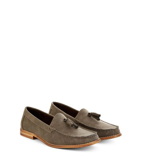 Brown Suedette Tassel Front Loafers | New Look