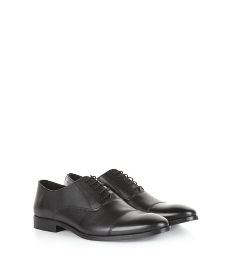 Black Leather Lace Up Brogues | New Look
