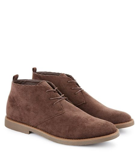 Brown Cord Desert Boots | New Look