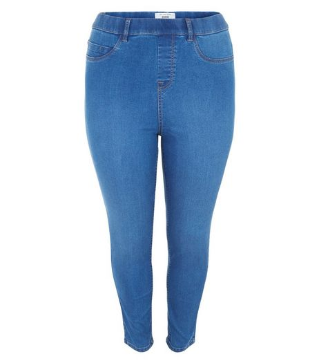 Curves Blue 5 Pocket Jeggings | New Look