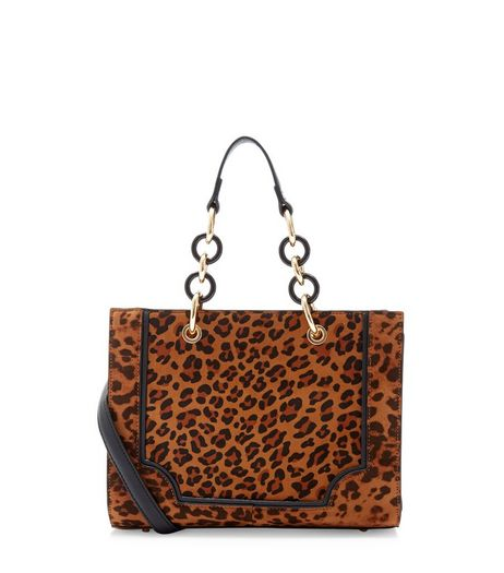 Brown Leopard Print Tote Bag | New Look