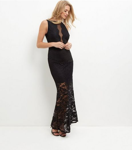 Black Lace Sleeveless Maxi Dress | New Look