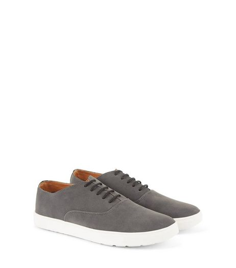 Textured Lace Up Plimsoles | New Look