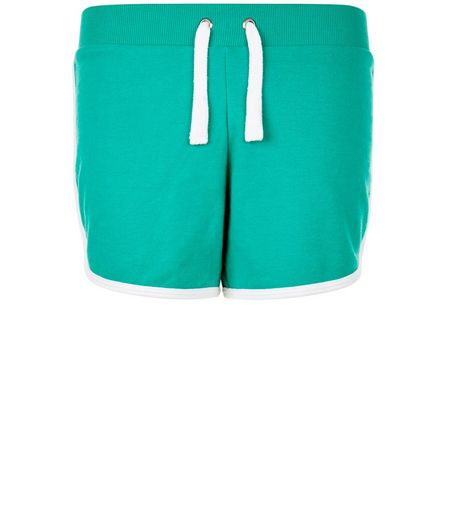 Teens Green Contrast Trim Shorts | New Look