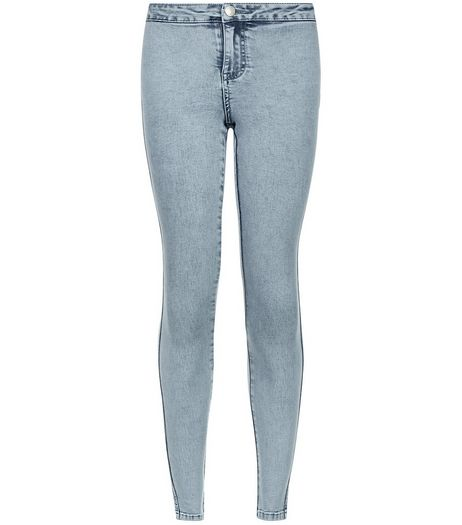 Teens Light Blue Acid Washed Jeans | New Look