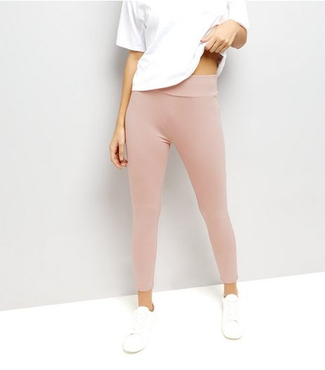 Pink High Waisted Leggings | New Look