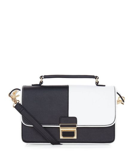 Monochrome Panel Shoulder Bag | New Look
