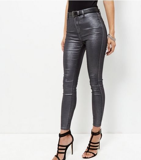 Black Coated Supersoft Skinny Jeans | New Look