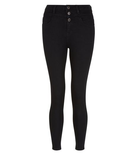 Petite Black High Waisted Skinny Jeans | New Look