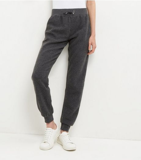 Dark Grey Brushed Joggers  | New Look