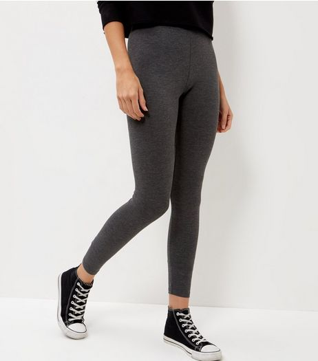 2 Pack Dark Grey and Black Leggings  | New Look