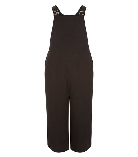 Curves Black Pinafore Jumpsuit | New Look