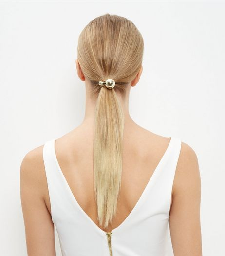 2 Pack Gold and Silver Ball Hair Bands | New Look
