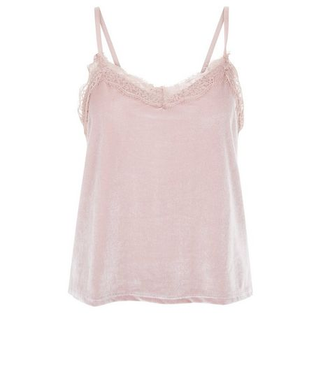 Mink Velvet Lace Trim Cami | New Look