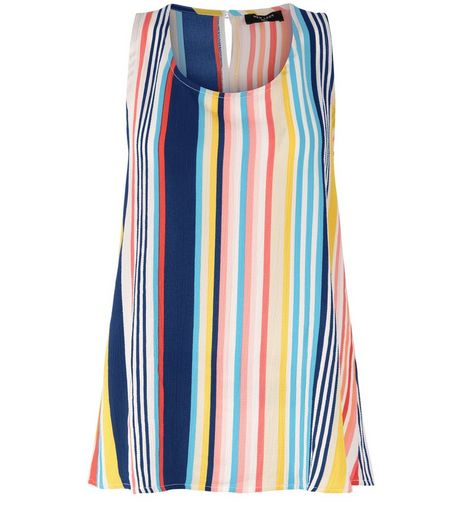 Tall Multicoloured Stripe Shell Top | New Look