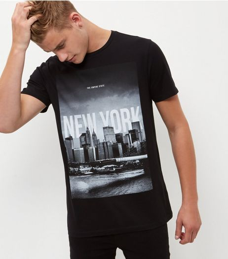 T shirts vests mens tops tees new look for New york printed t shirts