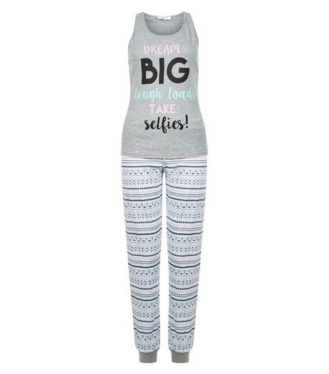 Teens Grey Dream Big Pyjama Set | New Look