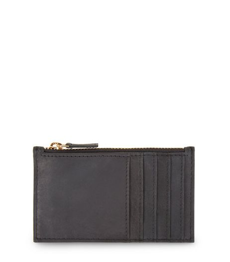 Black Zip Top Cardholder | New Look