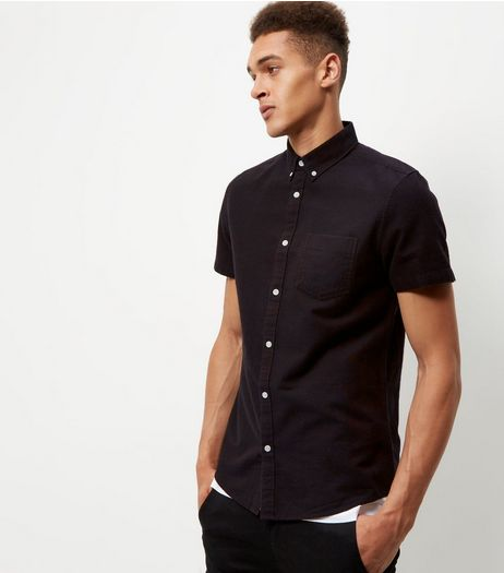 Burgundy Single Pocket Short Sleeve Shirt  | New Look