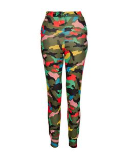 Cameo Rose Multicoloured Camo Print Joggers | New Look