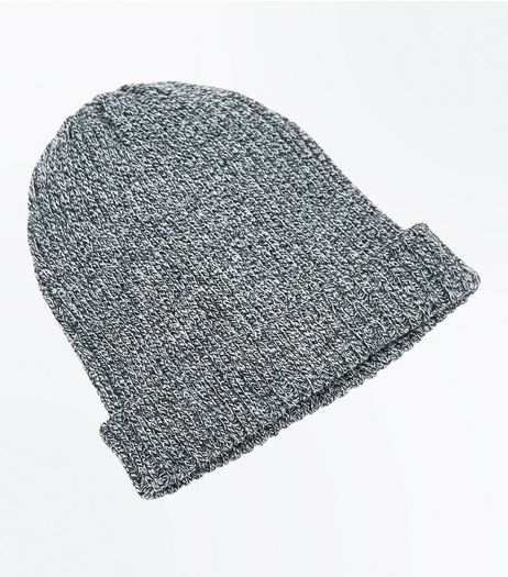 Black Ribbed Beanie Hat | New Look