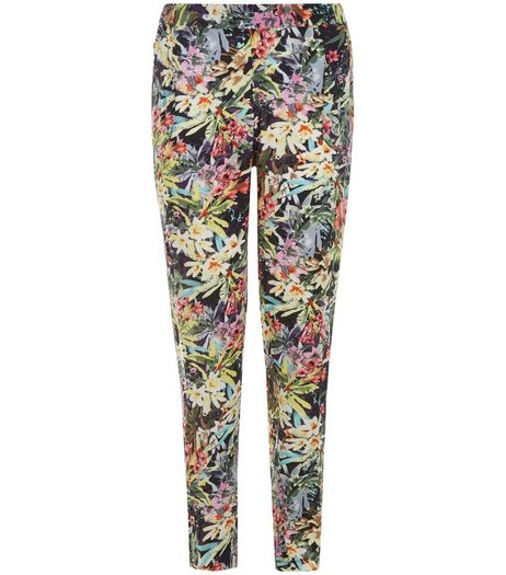 Blue Vanilla Yellow Floral Print Joggers | New Look