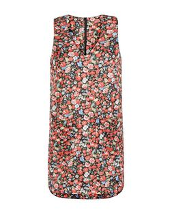 Blue Vanilla Black Floral Print Pinafore Dress | New Look