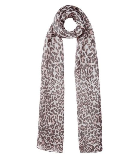 Brown Leopard Print Longline Scarf | New Look