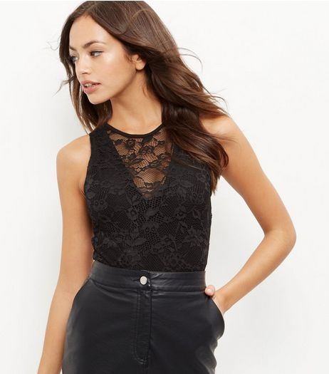 Tall Black Lace Bodysuit | New Look