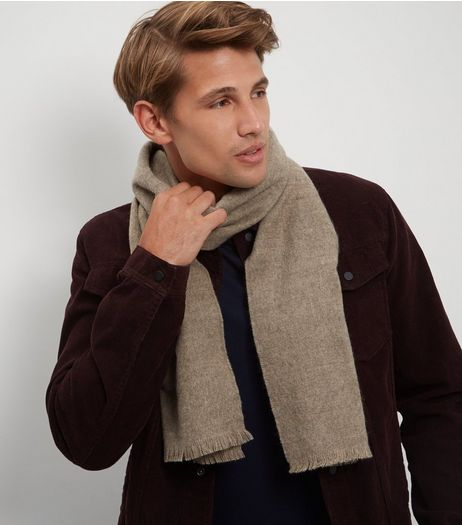 Camel Woven Scarf | New Look