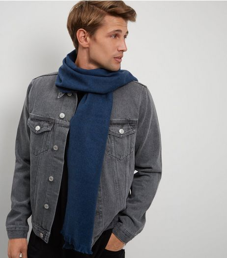 Blue Woven Scarf | New Look