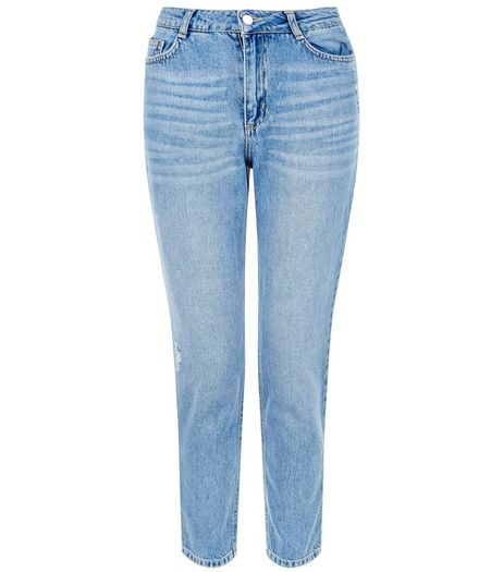 Petite 28in Pale Blue Straight Leg Jeans | New Look