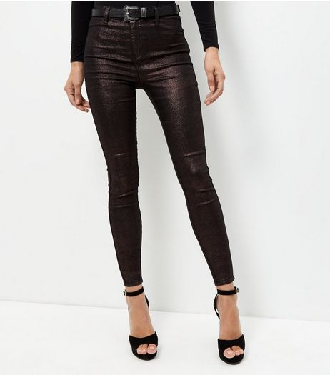 Bronze Coated Supersoft Skinny Jeans | New Look