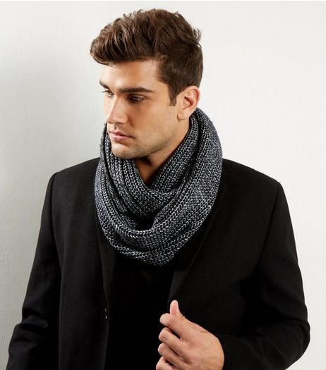 Black Ribbed Snood | New Look