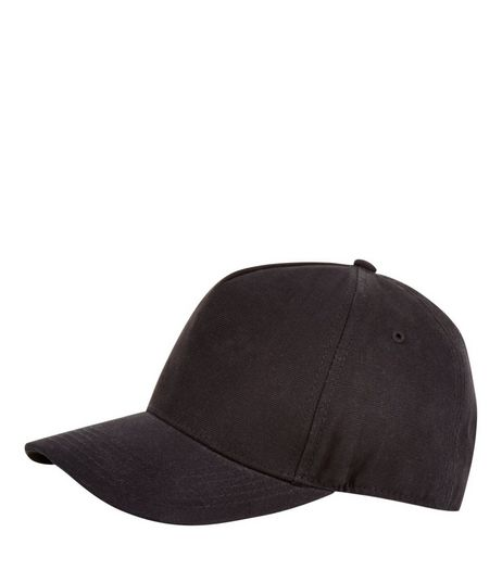 Black Cotton Cap | New Look
